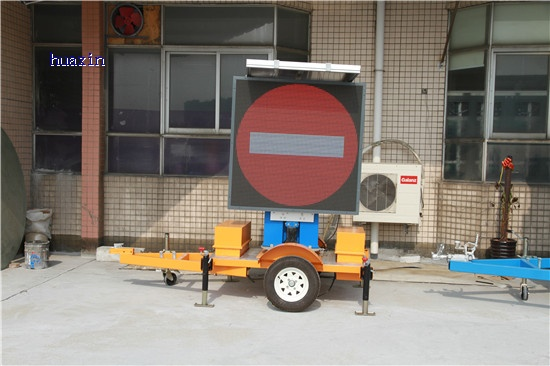 Outdoor Solar LED display with trailer